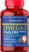 """דאבל אומגה 3, 1200 מ""""ג (600 מ""""ג אומגה 3 אקטיבי) שמן דגים 1200 מ""""ג"""