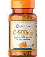 ויטמין סי C 500mg עם ביופלבונואידים ופקעות ורדים
